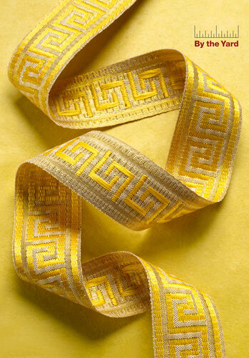 "1-3/8"" Woven Greek Key Band"