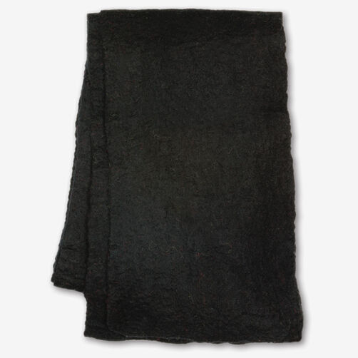 Black Wool Felt Scarf_72-73651