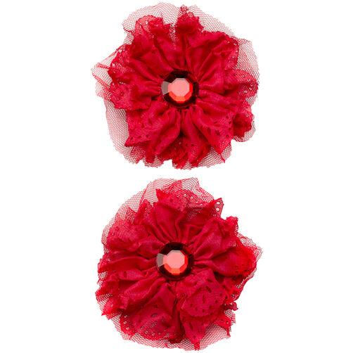 Red Eyelet Flower Embellishments_50-50604