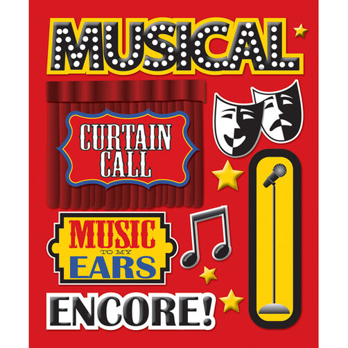 Musicals Sticker Medley_30-586796