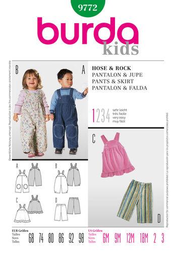 Burda Style Pattern 9772 Pants & Skirt