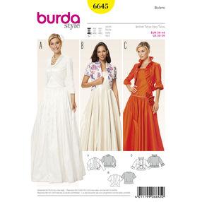 Burda Style Pattern 6645 Misses' Bolero
