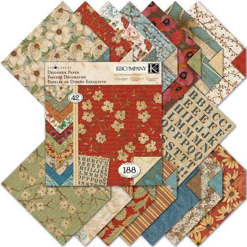 Tim Coffey Blossomwood 12x12 Designer Paper Pad_30-320291