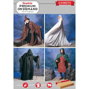 Simplicity Pattern EA988701 Premium Print on Demand Unisex Costume Capes