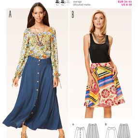 B6635 Misses' Skirt