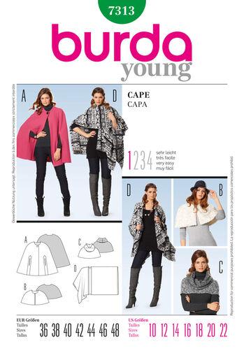 Burda Style Pattern 7313 cape