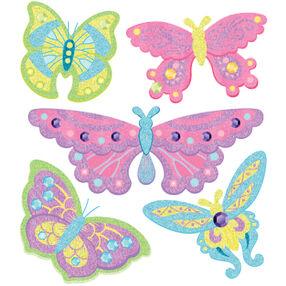 Glitter Butterfly Stickers_50-20416