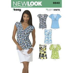 New Look Pattern 6940 Misses Knit Tops