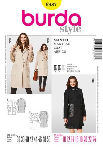 Burda Style Pattern 6987 Coat