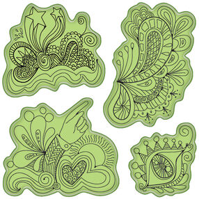 Doodle Fun Cling Stamps_65-32089