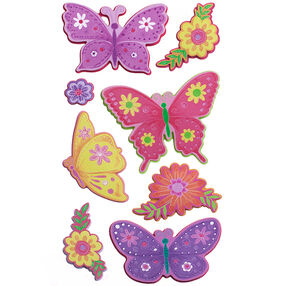 Layered Colorful Butterfly Stickers_52-40032