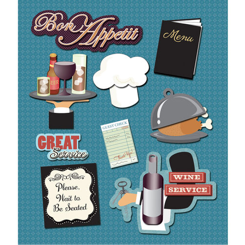 Food Service Restaurant Sticker Medley_30-588424