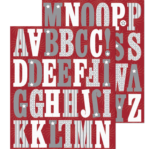 Americana White Alphabet Die-cut Sticker_30-588103