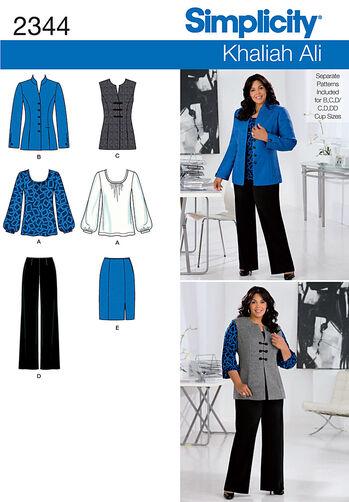 Simplicity Pattern 2344 Misses' & Plus Size Sportswear