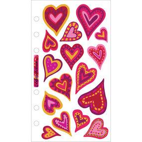 Expressive Hearts Vellum Stickers_SPVM45