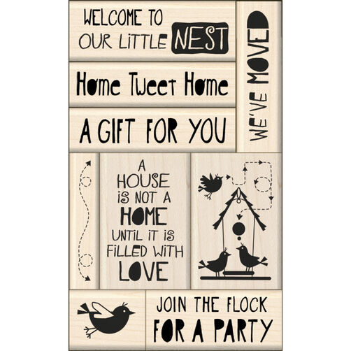 New Home Card Making Wood Stamps_60-10115