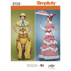 Simplicity Pattern 8159 Misses' Cosplay Costumes with Corsets