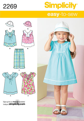 Simplicity Pattern 2269 Child's Easy to Sew Dresses
