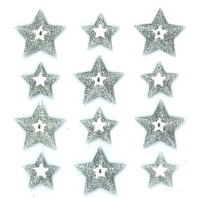 Silver Stars Cabochons_50-20902