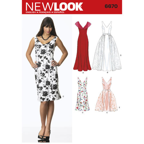 New Look Pattern 6670 Misses' Dresses