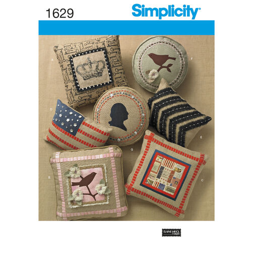 Simplicity Pattern 1629 Pillows in Three Sizes