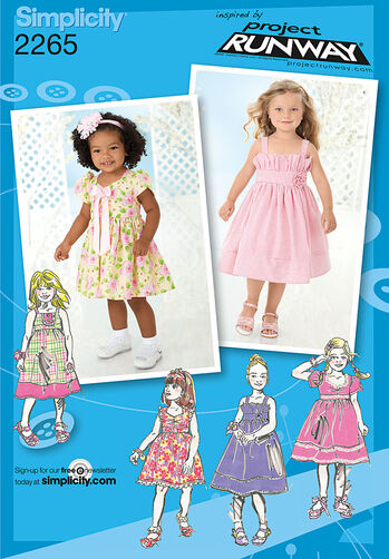Simplicity Pattern 2265 Toddlers' & Child's Dresses. Project Runway Collection