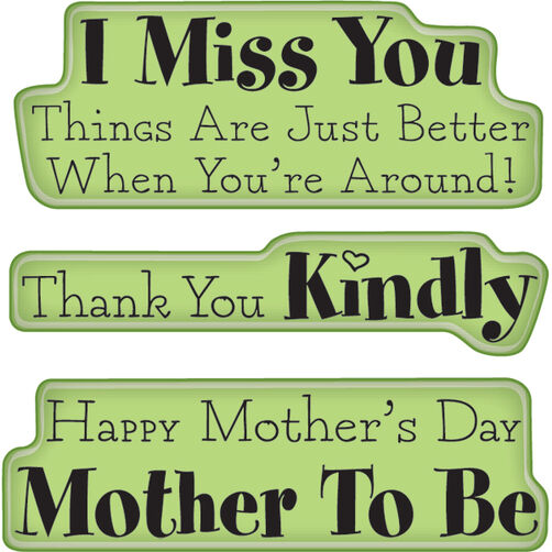 Mother, Thanks Expressions Mini Cling Stamps_60-60234