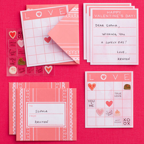 Valentine's Day Card and Envelope Set _48-00049