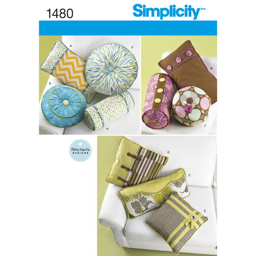 Simplicity Pattern 1480 Decorative Pillows and Neck Rolls