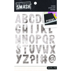 SMASH Silver Alpha Stickers_30-687134