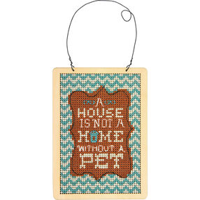Pet Wood Sign, Counted Cross Stitch_72-74138