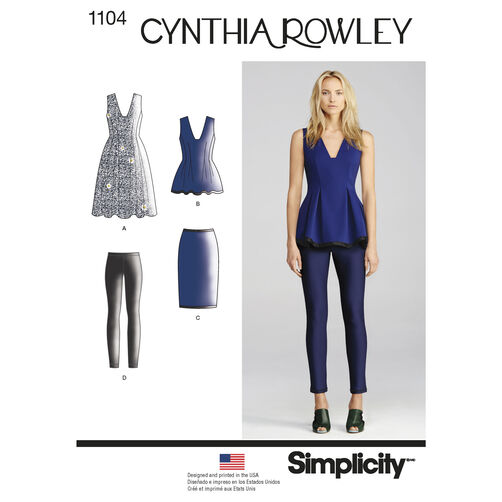 Cynthia Rowley Sewing Patterns: Pattern For Misses' Separates Cynthia Rowley Collection