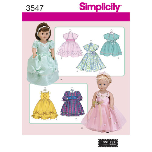 "Simplicity Pattern 3547 18"" Doll Clothes"