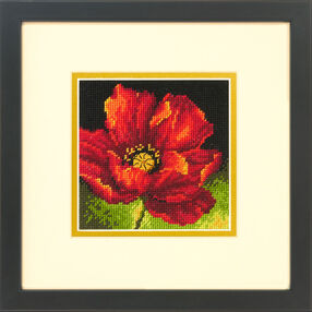 Red Poppy, Needlepoint_71- 07246
