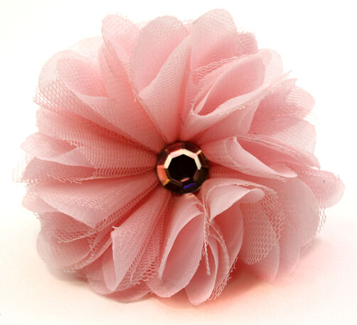 Netted Ruffle Blossom Pin & Clip Flower_56-63038