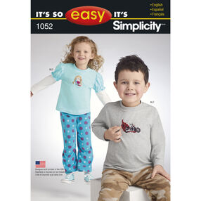It's So Easy Pattern 1052 Child's Separates