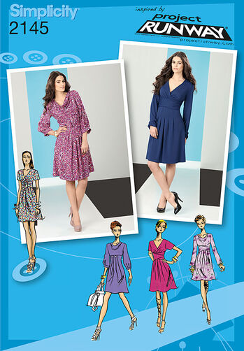 Simplicity Pattern 2145 Misses' Dresses. Project Runway Collection