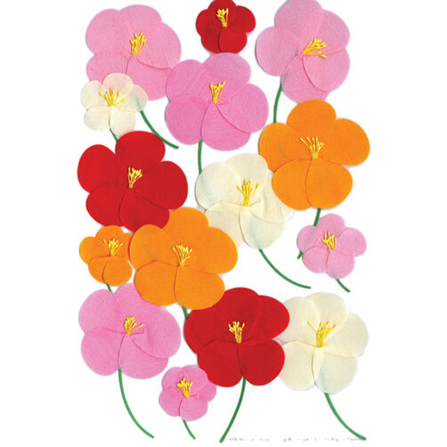 Pink Red Orange Poppy Sticker_M860405