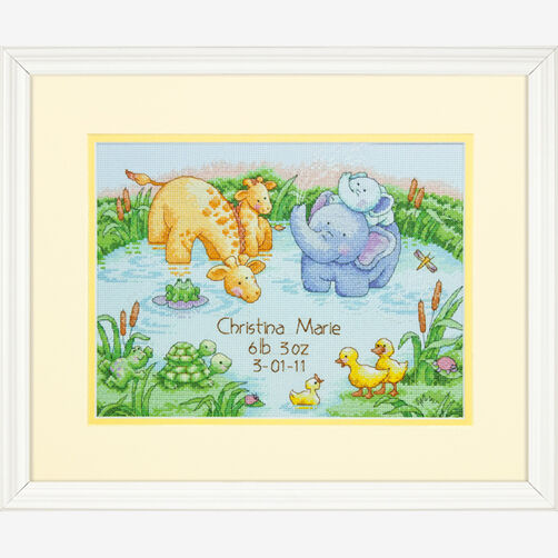 Little Pond Birth Record, Counted Cross Stitch_70-73697
