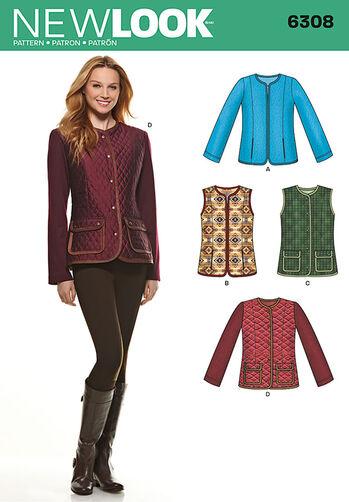 Misses' Jackets or Vests