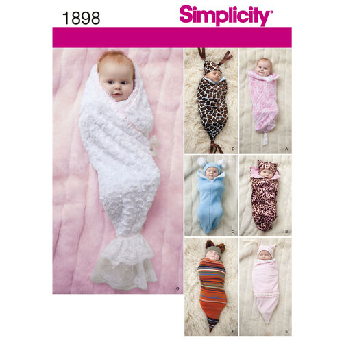 Simplicity Pattern 1898 Babies' Swaddling Sacks