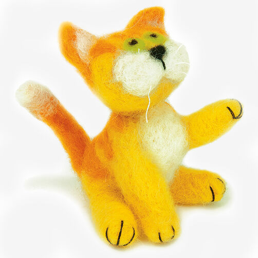 Yellow Kitty, Needle Felting_72-74041