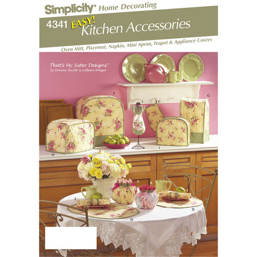 Simplicity Pattern 4341 Easy Kitchen Accessories