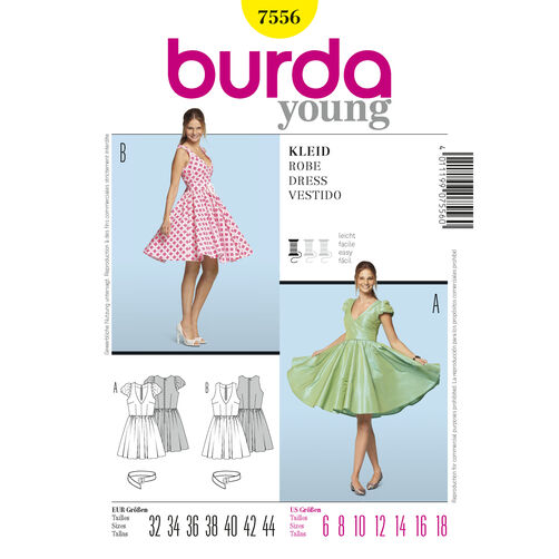 Burda Style Pattern 7556 Dress