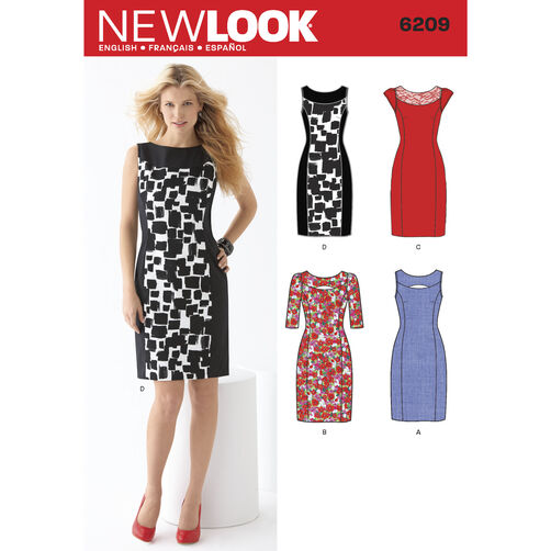 New Look Pattern 6209 Misses' Dress