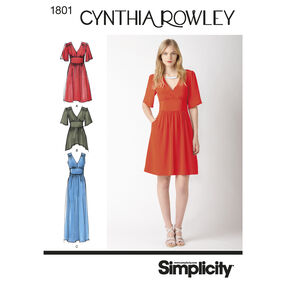 Simplicity Pattern 1801 Misses' Dresses Cynthia Rowley Collection