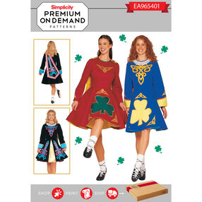 EA965401 Premium Print on Demand Costume Pattern