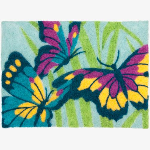 Butterflies Needle Felting Art_72-73926