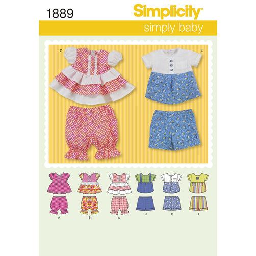 Simplicity Pattern 1889 Babies' Sportswear