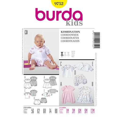 Burda Style Pattern 9752 Coordinates